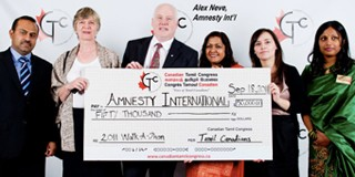 Canadian Tamil Congress donates $50,000 to Amnesty International –  May not be such a good idea to accept future donations – CTC is now banned