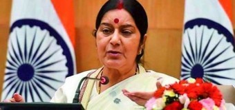 Another Indian threat: India's Foreign Minister Sushma Swaraj threatens Sri Lanka