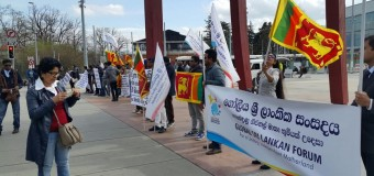 Global Sri Lankans Staged a Demonstration in Geneva
