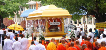 One Sided Tamil's Sanhidiyawa Opposed Cremation Ceremony of Naga Vihara Thero