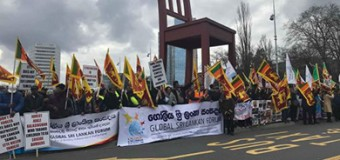 Global Sri Lankan Forum Protesting in Front of the UNHRC Office in Genewa on 21st March 2018