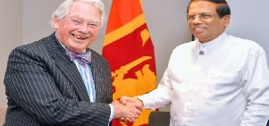 Sirisena thanks Lord Naseby for constant support