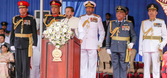 Sirisena at the Victory Day Celebration