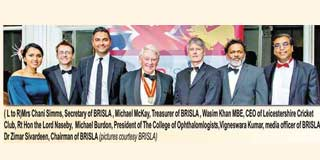 Naseby receives award from Dauris<br />British Sri Lanka Association Accolades 2018