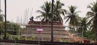 Nawakkuliya temple in progress despite of Tamil's threats
