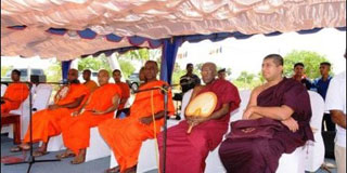 Buddhist Temple Re-Established in the Land Grabbed by Tamils  in KKS