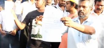 Anti-Lanka Pro-LTTE NGO Activists Burn Warning Notice