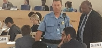 LTTE Tamil Terrorists' Diaspora Leader, Pathmanabban Manivanna caught Red Hand in UNHRC General Assembly  while distributing anti-Sri Lankan documents to UN Ambassadors on 13th Sep. 2018