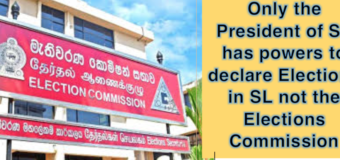 Election Commission cannot usurp Presidents powers: Sri Lanka's President must declare new polls date before 2nd June