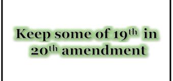 Sri Lanka – Keeping parts of 19a in 20th amendment