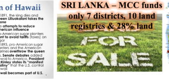 Sri Lanka: Did you know MCC $480m covers only 7 districts, 28% of land area & 10 land registries