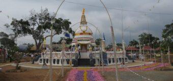 Two Kilinochchi Buddha statues desecrated