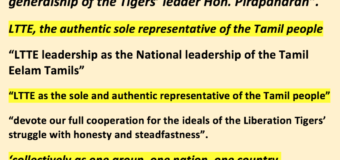 TNA was formed by LTTE & contested December 2004 elections