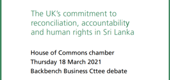 The UK's commitment to reconciliation, accountability and human rights in Sri Lanka